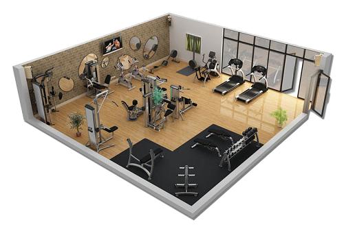 mô hinh phòng tập gym